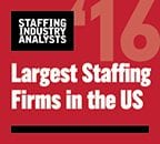 Staffing Industry Analyst logo of 2016 largest U.S. Staffing Firms