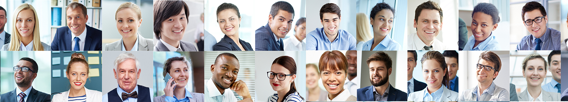 Faces of job seekers